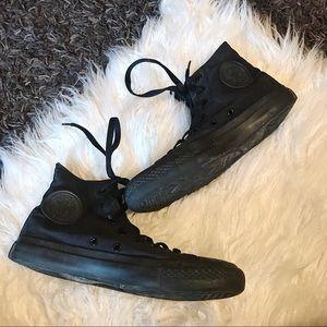 Black Converse Shoes High Top All Star Hi Chucks 8